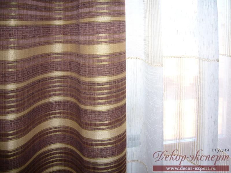 Фрагмент портьерной ткани и тюля