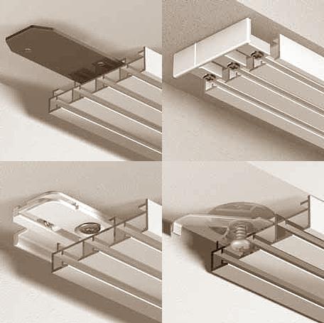 Элементы комплектации карниза для японских штор.