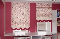 Римские шторы для детской комнаты девочки в Тольятти