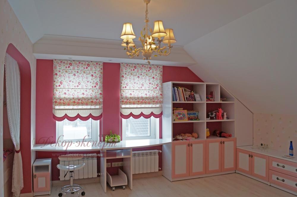 Римские шторы для детской комнаты девочки, для мансарды, Тольятти, Самара, дизайн штор Светлана Никитина