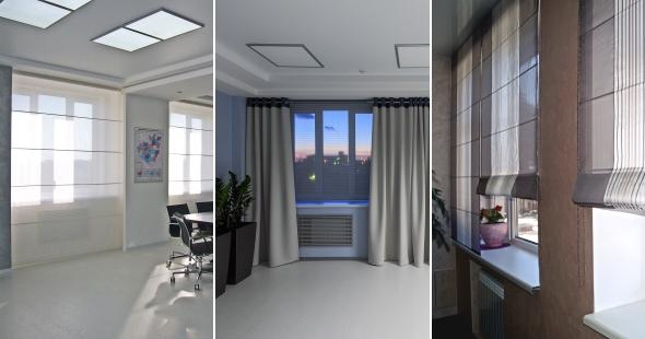 Фото штор для офиса, для кабинета.