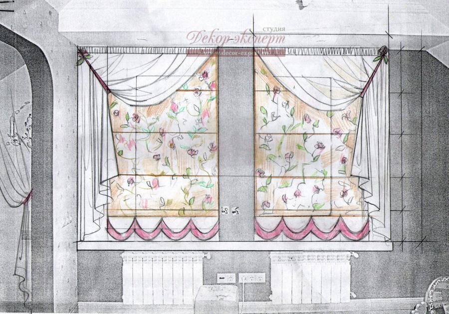 Римские шторы для детской комнаты девочки, Тольятти, дизайн штор Светлана Никитина