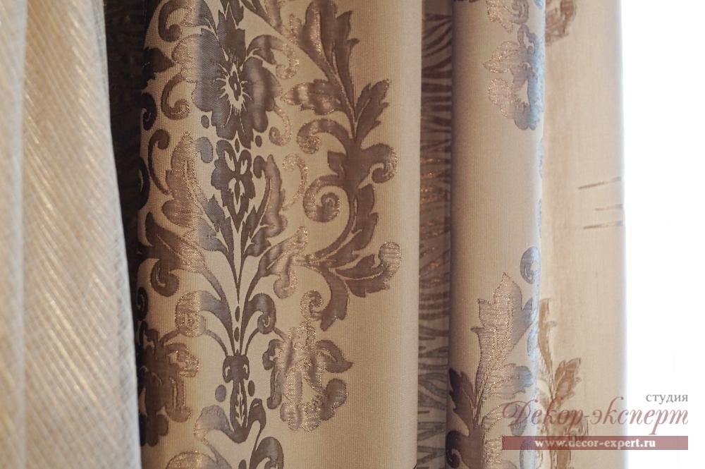 Фрагмент тюля и портьерной ткани