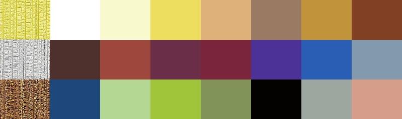 Палитра основных и дополнительных цветов для ткани резного ламбрекена