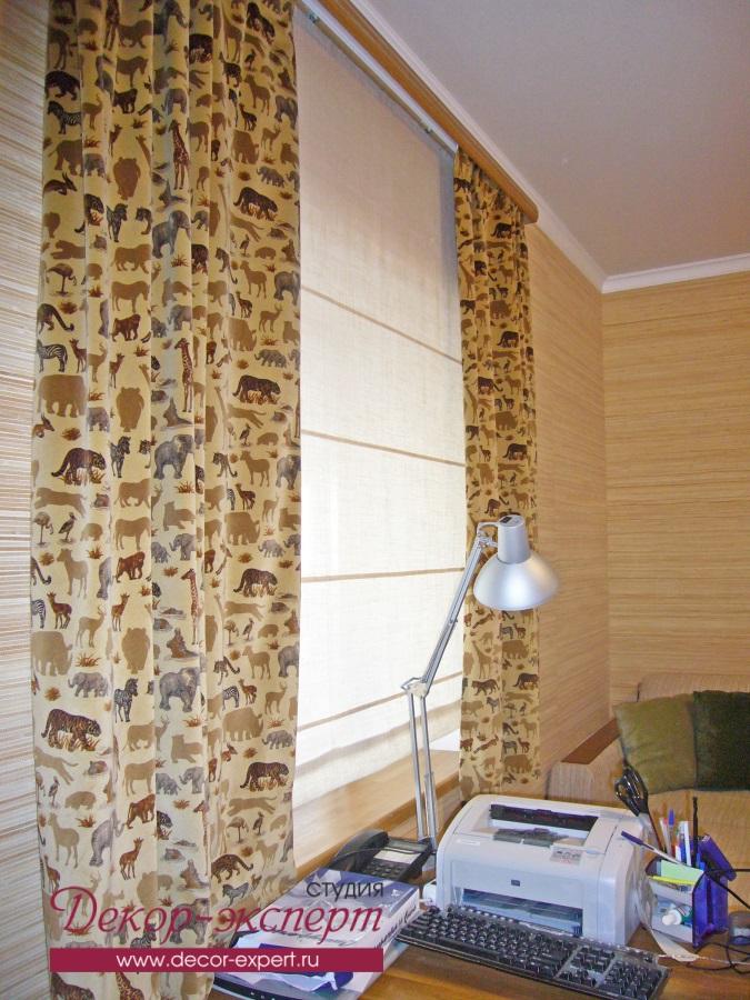Римская штора для кабинета в пригороде Тольятти
