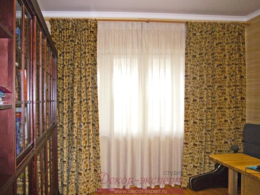 Шторы из натуральной ткани для кабинета в Тольятти.