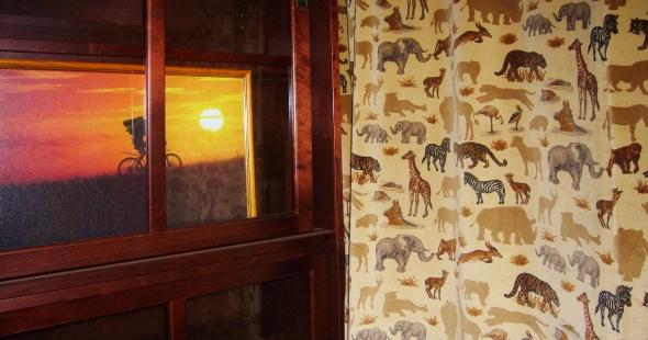шторы для кабинета в стиле сафари