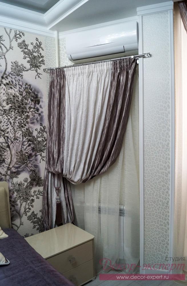 Текстильная драпировка на стене