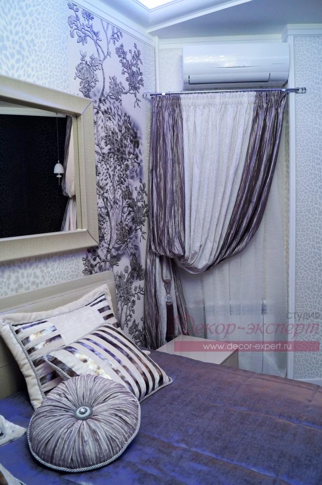 Текстильный декор для спальни.