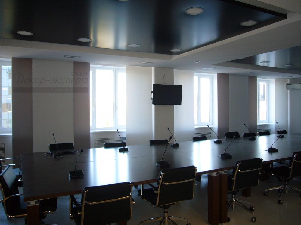 Японские шторы с электроуправлением для конференц зала.