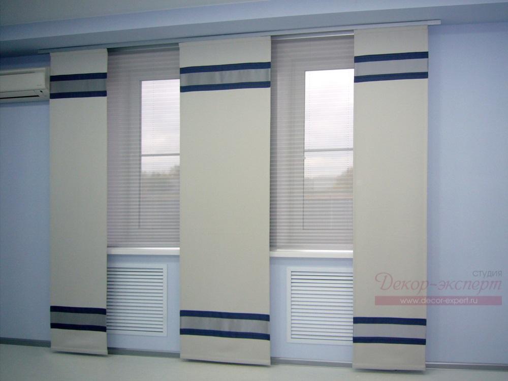 Японские шторы для офиса.