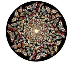 Эшер. Предел круга II, Мир бабочек. 1950, цветная литография.