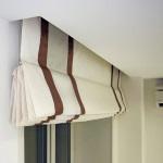Римская штора в потолочной нише