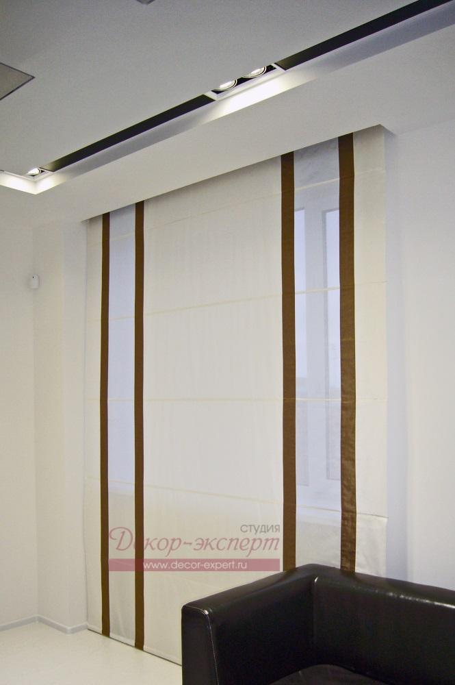 Потолочная ниша для римской шторы в офисе