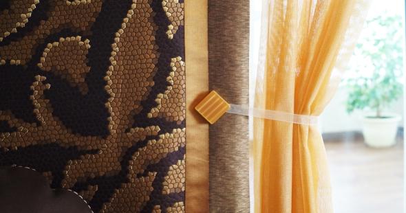 Японские шторы как яркий акцент в интерьере.