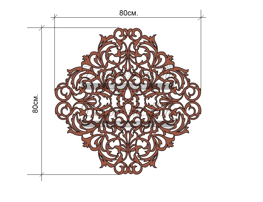 Эскиз ажурного термоклеевого сегмента для гладкого ламбрекена.