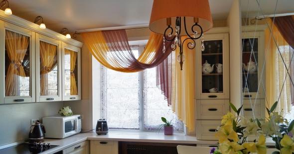 Шторы для кухни в квартире в Тольятти