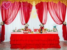 Ажурные ламбрекены в свадебном декоре у Елены Байбары