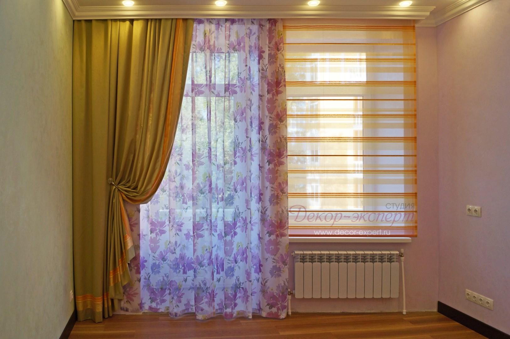 римская штора для детской комнаты девочки в Тольятти