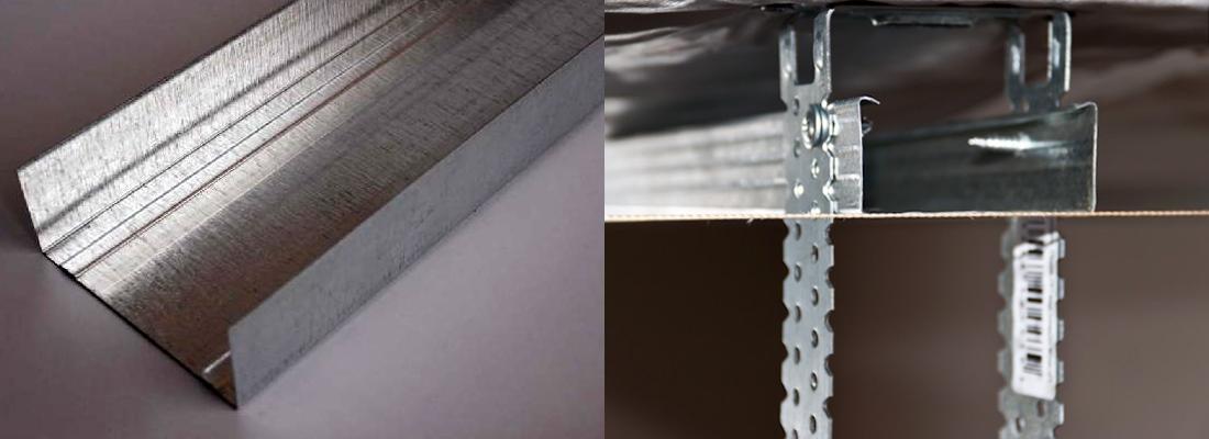 потолочный металлический профиль для ГКЛ