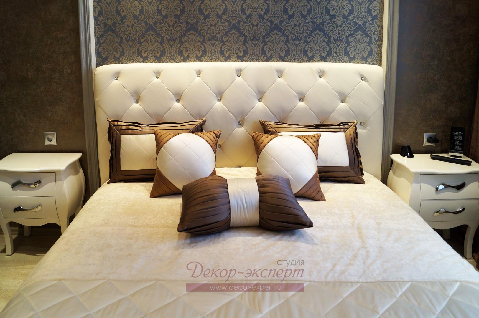 Текстильный декор для спальни в Сызрани.
