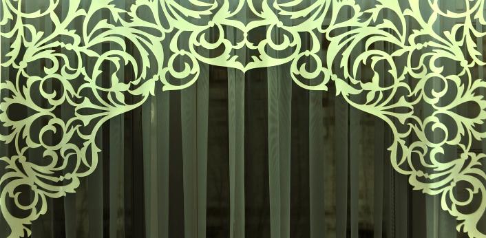 арочные ажурные ламбрекены