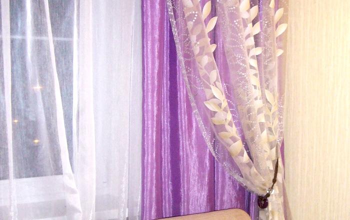Декоративная драпировка тюлем штор