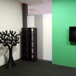 Зонирование японскими шторами для «Креативного пространства wi-fi»
