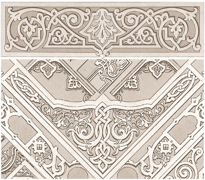 """Орнаменты положенные в основу дизайна ажурного ламбрекена """"Византия"""""""