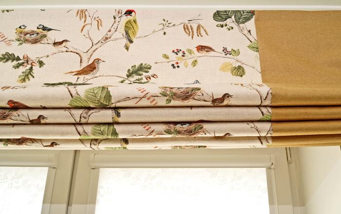 Римская штора в детскую из ткани бренда Sanderson