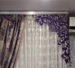 Контраст дорогой шторы и дешёвого ламбрекена